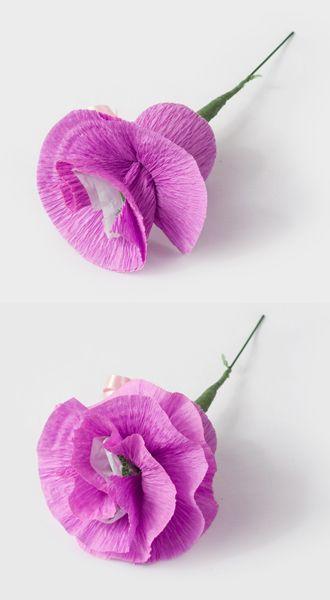 Flor com bombom - Passo a passoFlowers