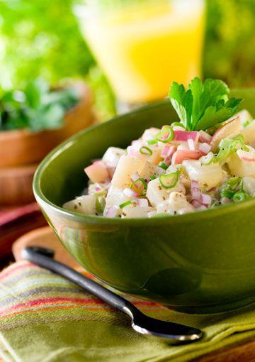 Warm and creamy potato salad - Paula Deen's lowfat version.