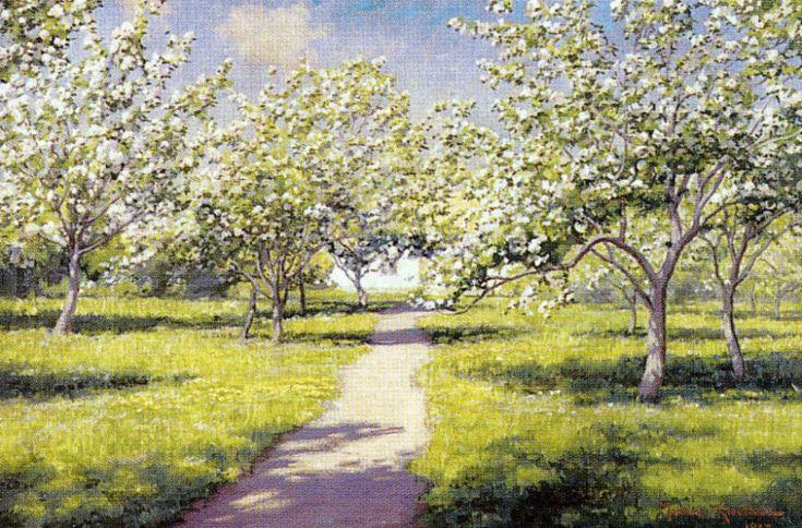 Johan Krouthén (1858-1932) - Fruktträdgård,1918 (593x900)