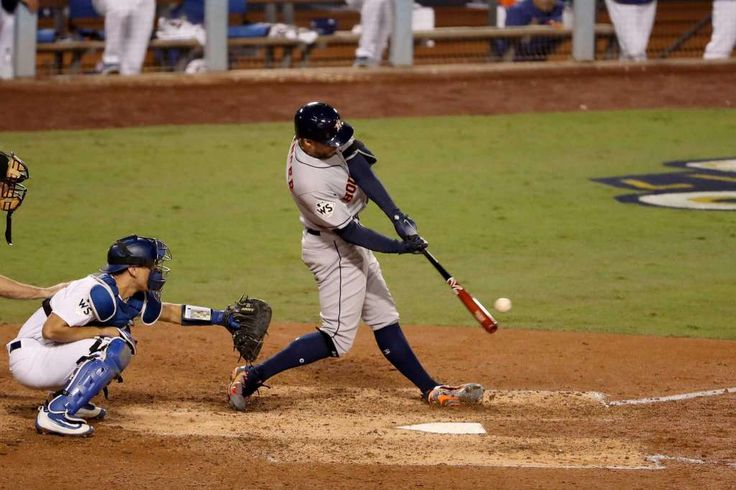 October 31, 2017:  It's Game 7, as it should be, in the World Series.   LOS ANGELES, CA - OCTOBER 31:  George Springer #4 of the Houston Astros hits an infield single during the seventh inning against the Los Angeles Dodgers in game six of the 2017 World Series at Dodger Stadium on October 31, 2017 in Los Angeles, California.  (Photo by Christian Petersen/Getty Images) Photo: Christian Petersen / Getty Images / 2017 Getty Images