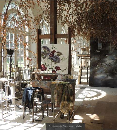 Claire Basler 's new studio - Chateau de Beauvoir - France