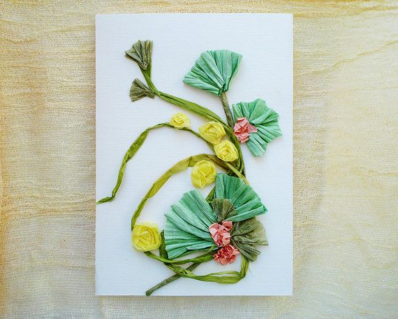Greeting Card Congratulations card Collage card by FloralCollage #greetingcard #floral #paperart