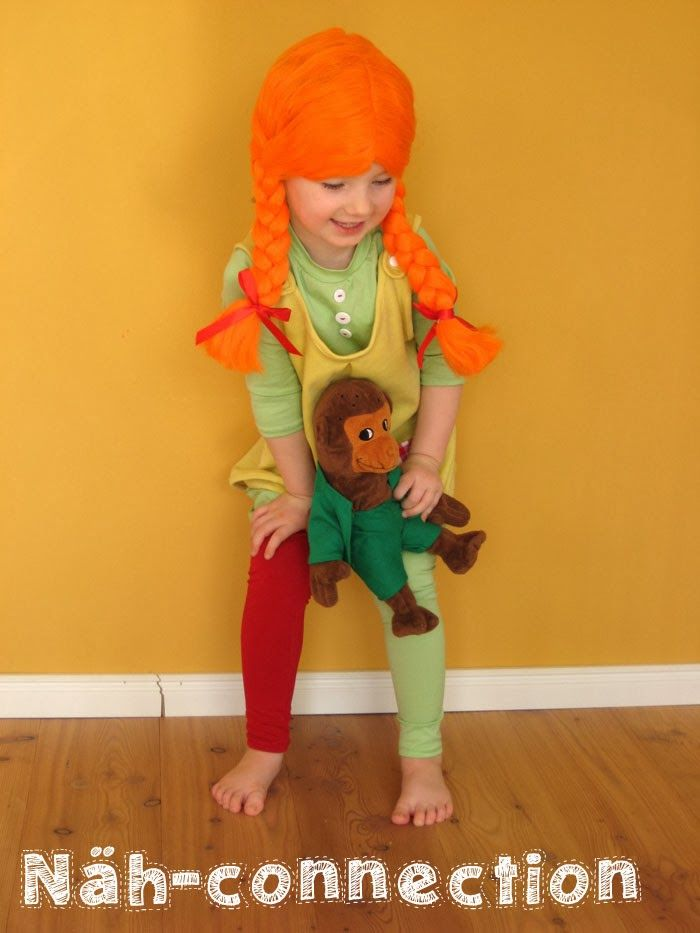KCW Tag? Pippi Langstrumpf Kostüm - KCW day? Pippi Longstocking costume - Näh-connection