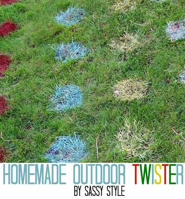 Homemade Outdoor Twister Game and other giant outdoor games by Sassy Style