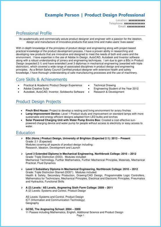 graduate cv example page 1 microsoft word  write a winning