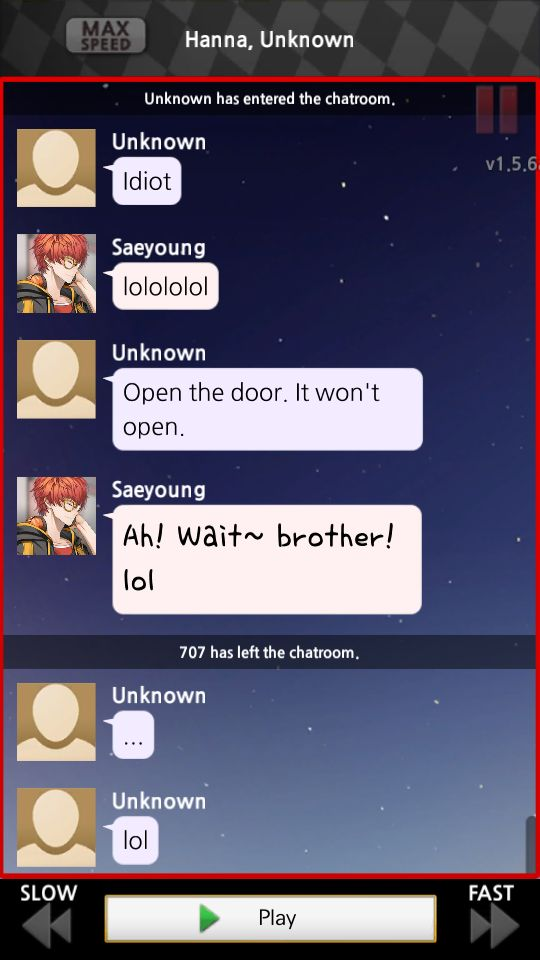 That lol was the loveliest most innocent lol in this world omg Saeran bby
