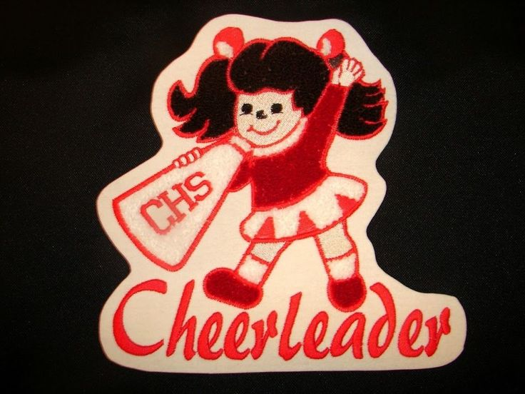Cheer Cheerleader Varsity Jacket Sports Chenille Letterman Patch Large Squad | eBay