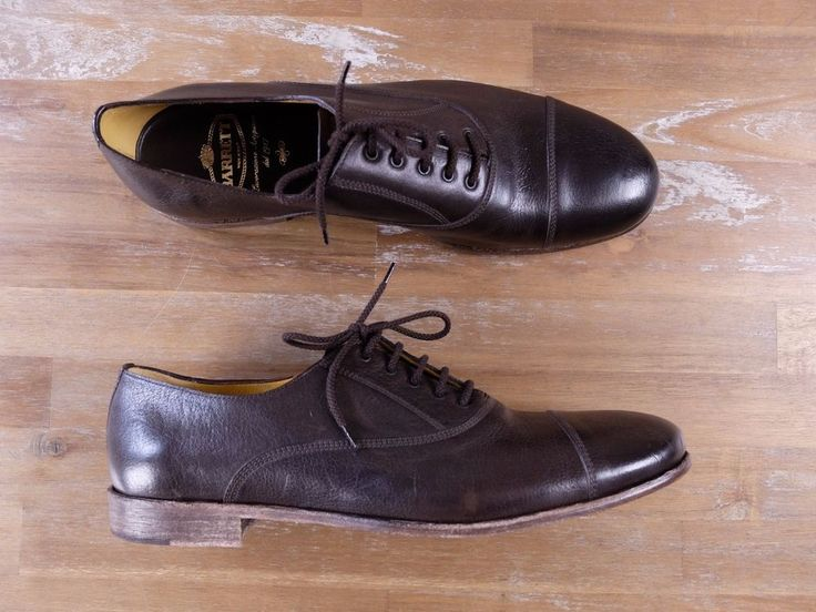 auth BARRETT Italy brown leather oxford shoes Size 11 US / 10.5 UK / 44 EU