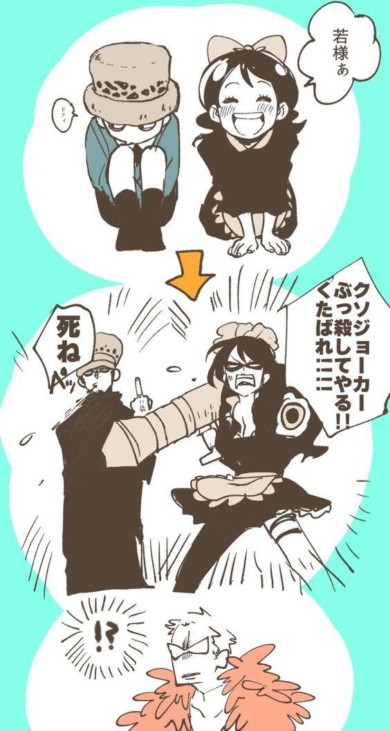 One Piece, Donquixote Doflamingo, baby 5, Law