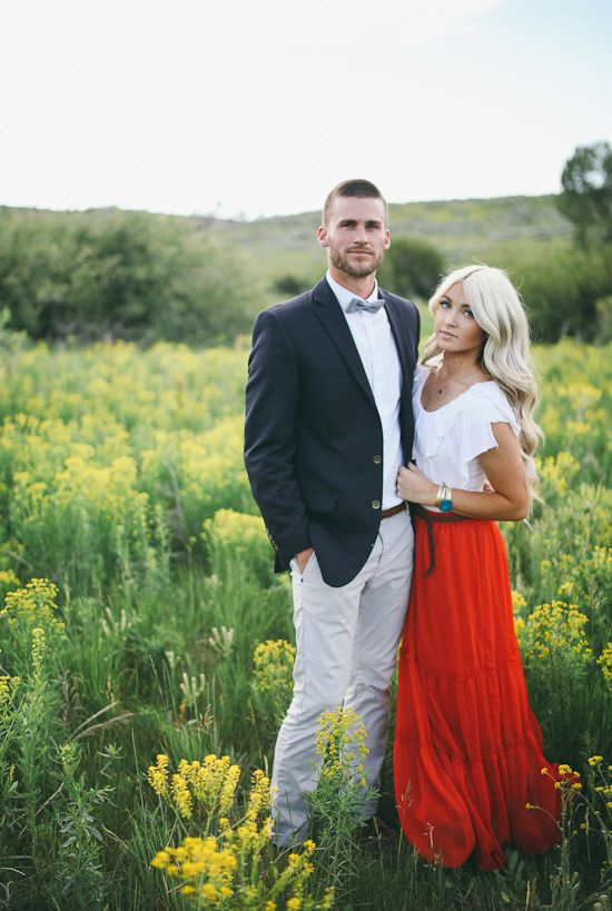 Never mind this engagement pic, LOVE her outfit!!!!