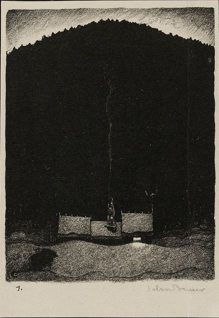 John Bauer - Lithograph 4 (1915) by Aeron Alfrey, via Flickr