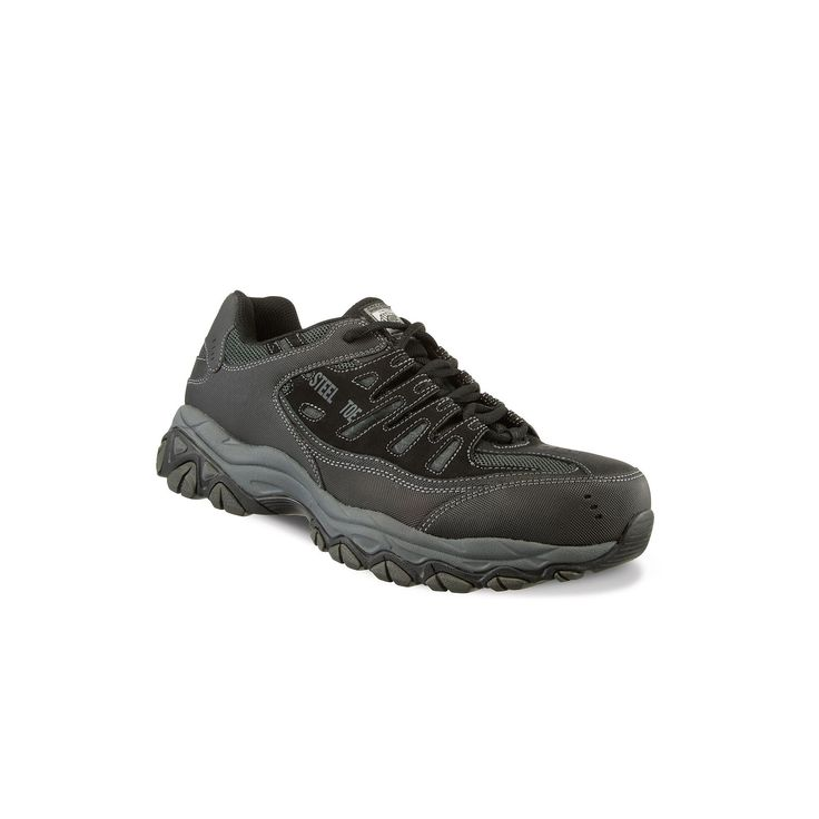 Skechers Work Relaxed Fit Crankton Men's Steel-Toe Shoes, Size: 10.5, Grey Other