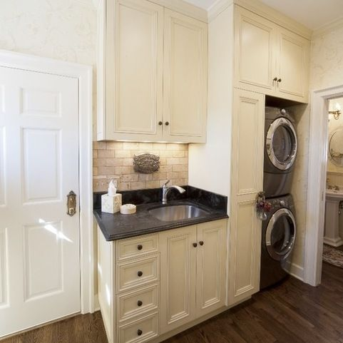 Image result for laundry room and mud room designs with stackable washer dryer