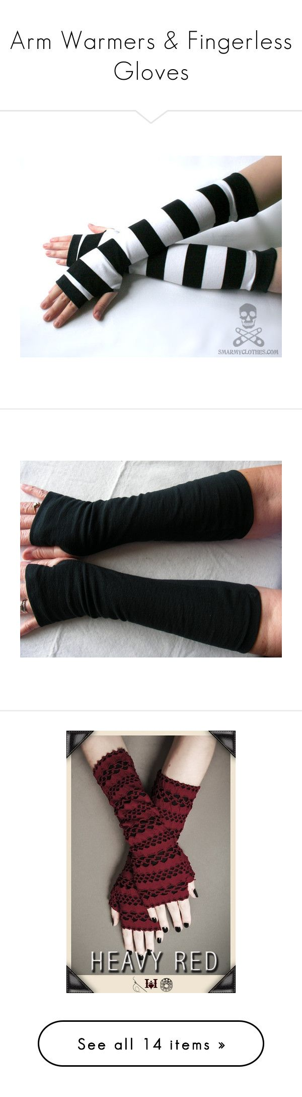 """""""Arm Warmers & Fingerless Gloves"""" by corky-1991 ❤ liked on Polyvore featuring accessories, gloves, luvas, black, punk gloves, fingerless gloves, rock gloves, striped gloves, striped fingerless gloves and mitt"""