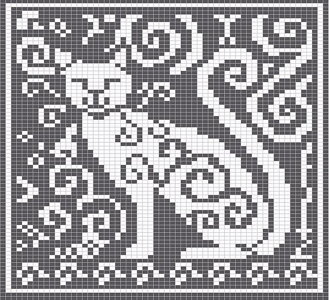 Ravelry: Spirit Cat Knitting Charts pattern by Melanie Nordberg...free download...on stick...