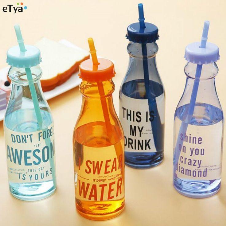 650ml Fashion Unbreakable Water Bottle Plastic Portable