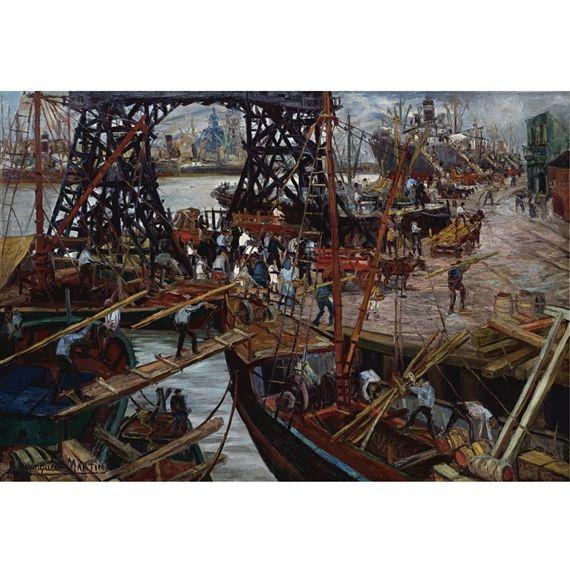 El puerto de Buenos Aires - Benito Quinquela Martin