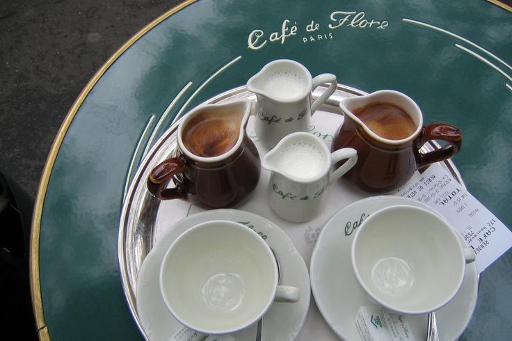 cafe flore tabletop, paris