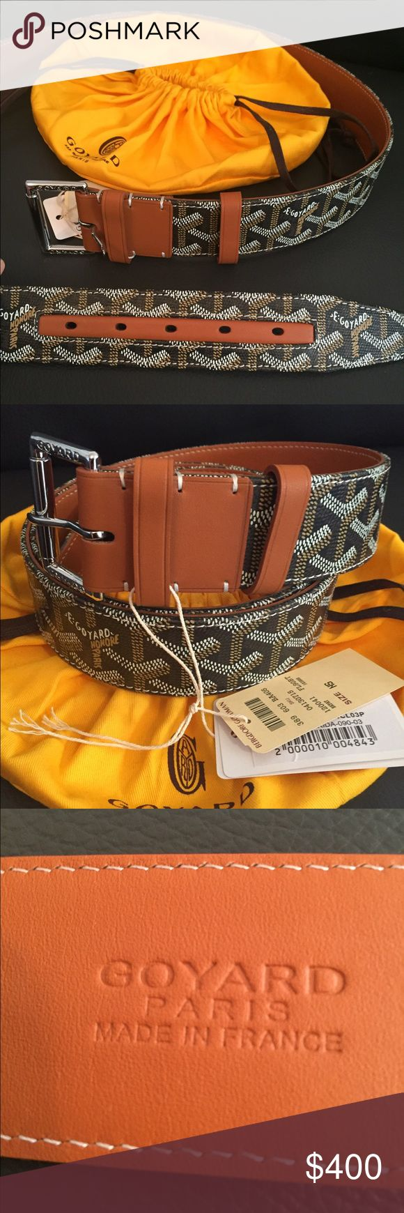 NWT Tan Goyard Belt Brand new and authentic tan Goyard. Comes with all original tags, and yellow Goyard pouch. Ask for size. Goyard Accessories Belts