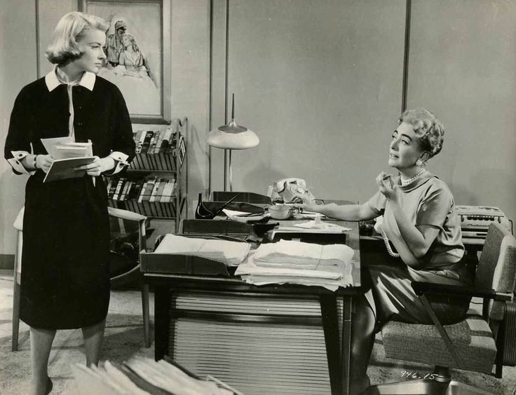 """Hope Lange and Joan Crawford """"The Best of Everything"""" (1959)"""