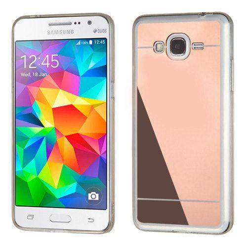 MYBAT Premium Mirror Samsung Galaxy Grand Prime Case - Rose Gold/Clear