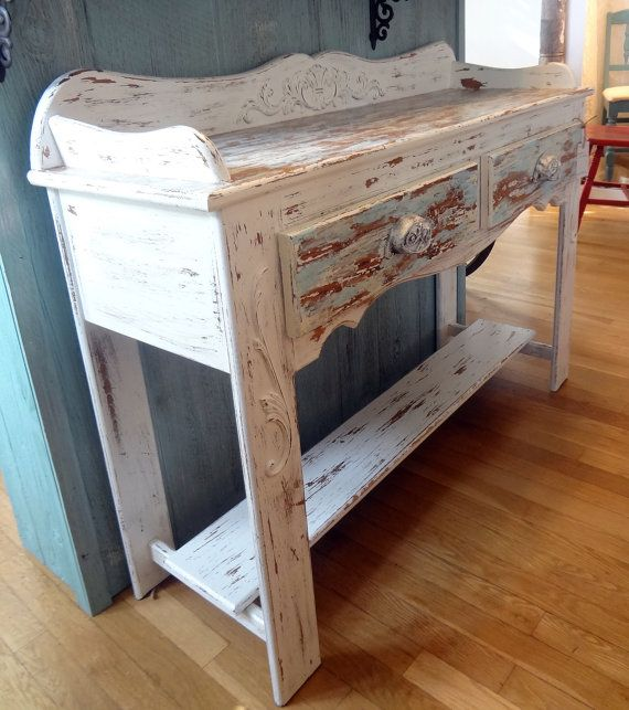 shabby chic rustic buffet table by thepinktoolbox on etsy for the home pinterest. Black Bedroom Furniture Sets. Home Design Ideas