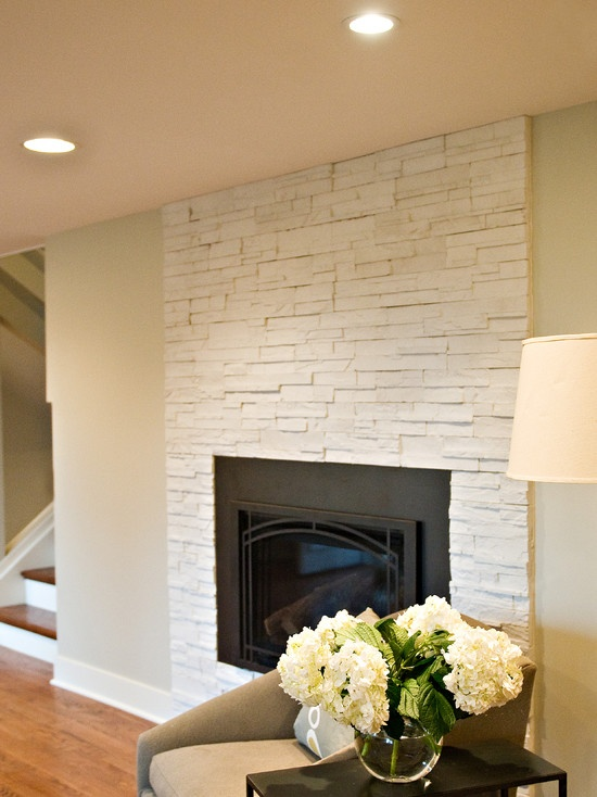 White Stone Fireplace Design, Pictures, Remodel, Decor and Ideas - page 3