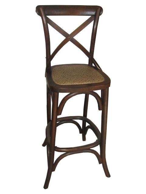 French Provincial Crossback Brown Bar Stool - $189  http://www.stoolsandchairs.com.au/provincial-crossback-bar-stool-brown/  #French #provincial #brown #crossback #bar #stool