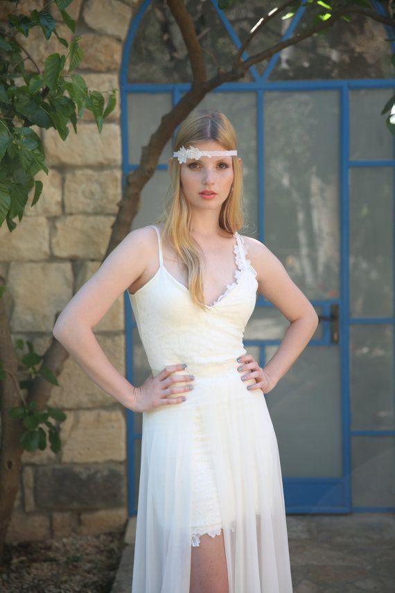 Adrienne Boho wedding dress bohemian wedding dress by TheBride2B