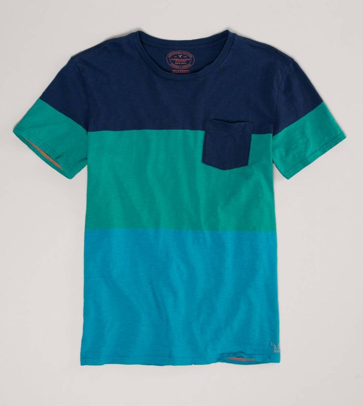 AE Striped Pocket T | American Eagle Outfitters