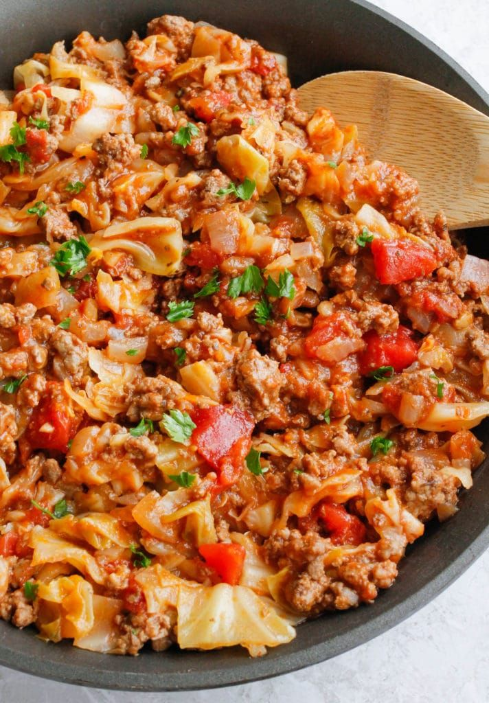 Amish One Pan Ground Beef And Cabbage Skillet Recipe Ground Beef And Cabbage Cabbage Recipes Cabbage And Beef