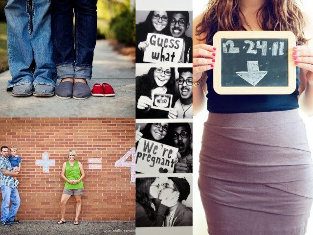 Some cute ideas for pregnancy announcements