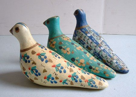 Mexican Pottery - Three Doves
