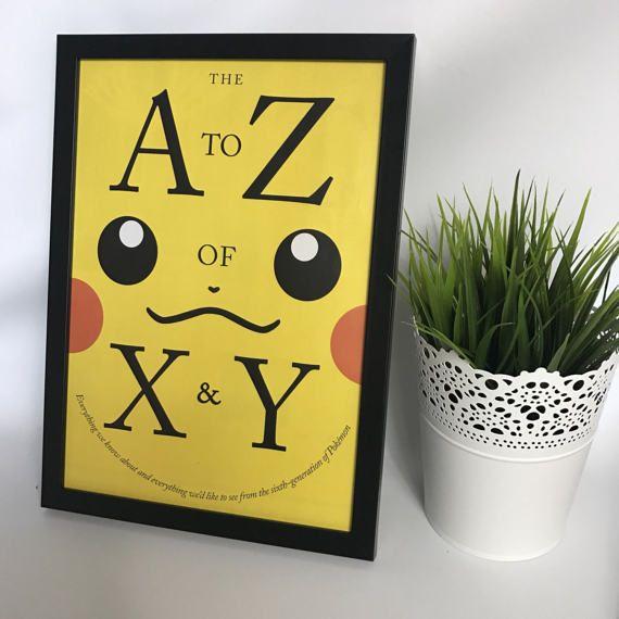 Original Framed Nintendo Pokemon Pickachu X&Y Advert Front