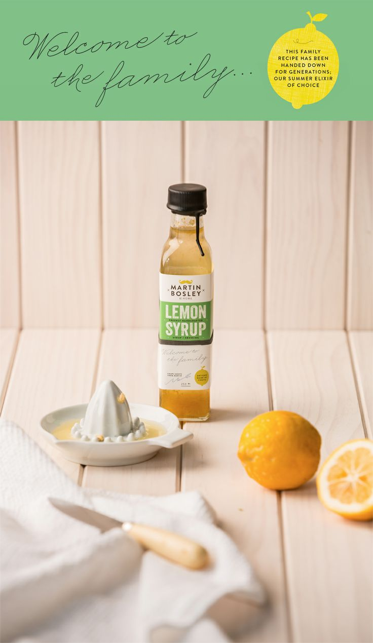 Lemon Syrup - summers elixir of choice!