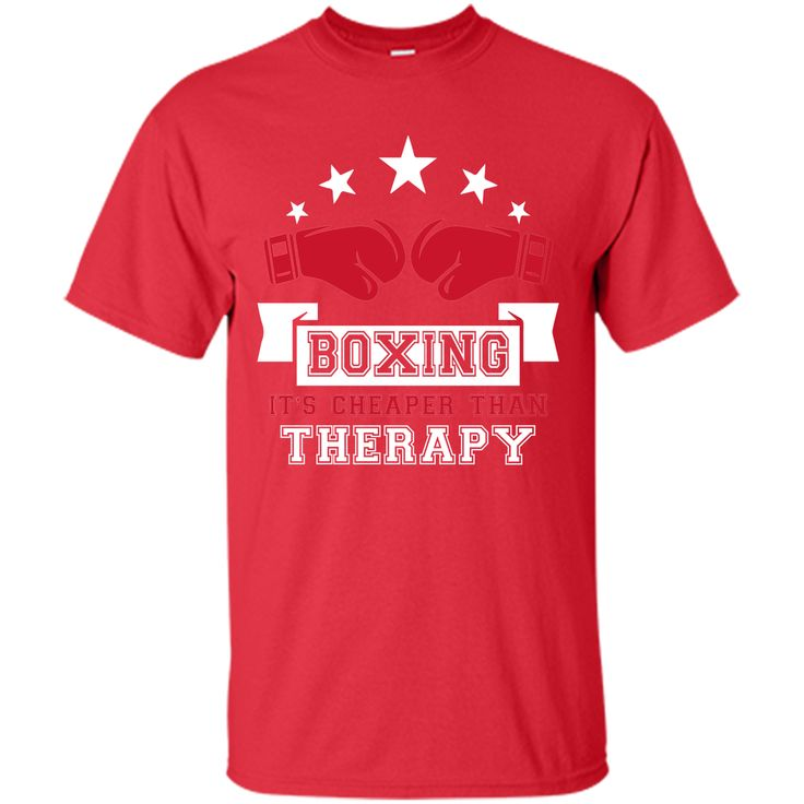 Boxing It's Cheaper Than Therapy Funny Boxer T-Shirt