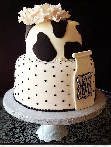 Cow Print Bridal Shower Cake this would be so cute for my sister