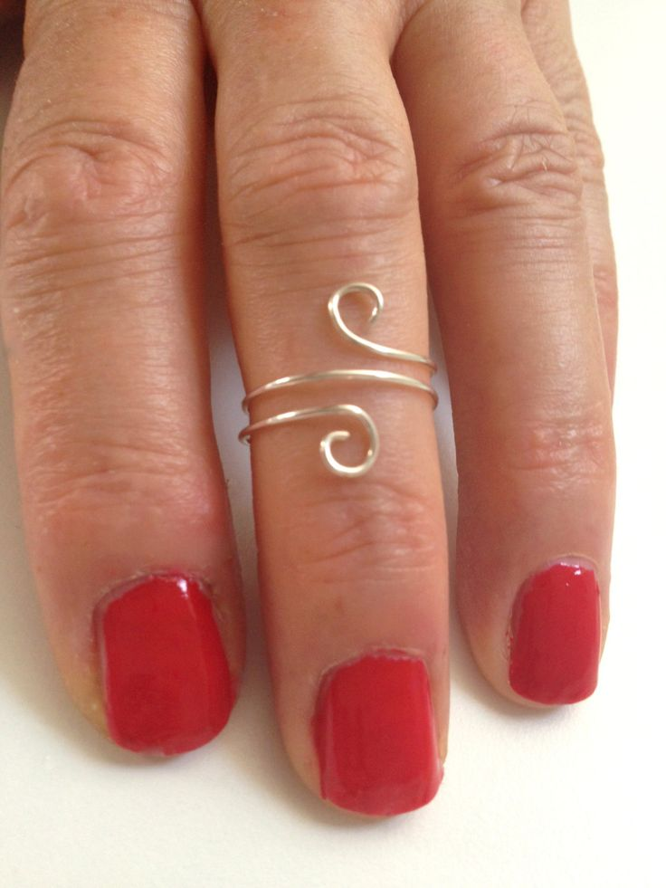 Knuckle ring Sterling Silver knuckle ring by Wiredesignjewelry, $12.95