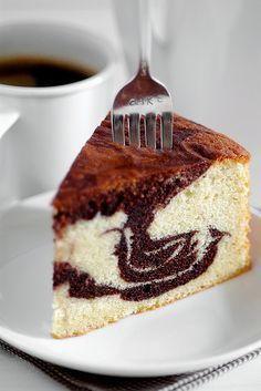 Marble Butter Cake - rich, chocolaty and buttery all in one. From a recipe older than I! Granny made this for me every trip! ❤
