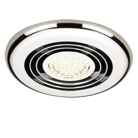 Rapide Inline Ceiling Extractor Fan With LED Lighting - Chrome In 2019