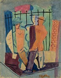 Na ulici, 1926  Pravoslav Kotík (1889, †1970 v Praze) byl český malíř a grafik.