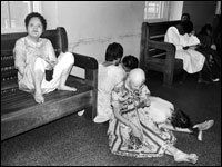 The women's ward at Willowbrook, a Staten Island institution for mentally ill or delayed. In the 1940s hepatitis was deliberately give to the children to study its effects. They were given unsanitary water, injected directly and, it is said, given hepatitis-contaminated feces.