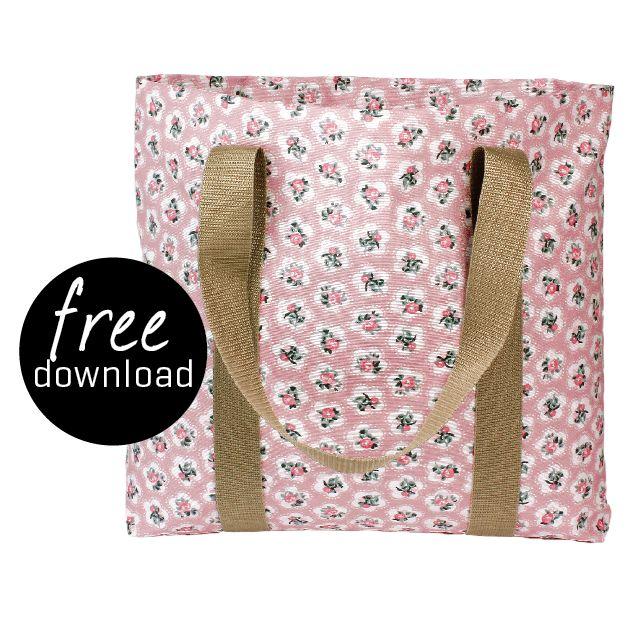 DIY - free download bag. Oil cloth Rosa, No. 870255. Stof & Stil