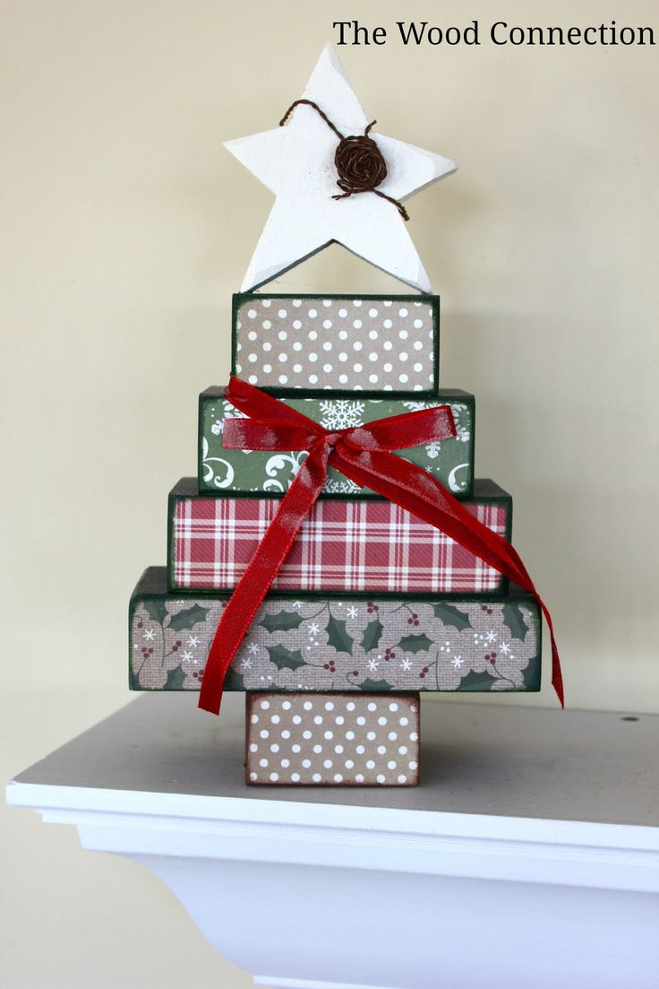 Wooden craft christmas trees - The Wood Connection Stacking Block Christmas Tree