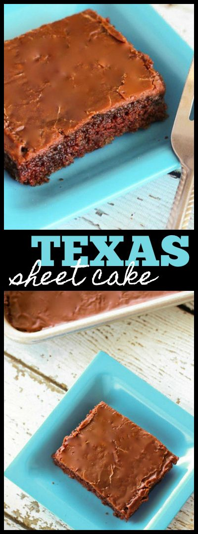 This Texas Sheet Cake is one of my favorite dessert recipes from my mom. This cake is so moist and yummy and feeds a crowd! via @favfamilyrecipz (Favorite Desserts Mom)