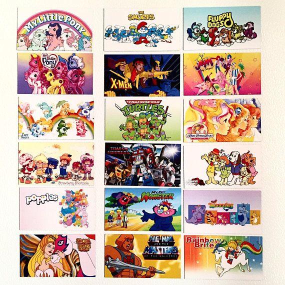 Magnets featuring Retro Saturday Morning Cartoons 80s 90s