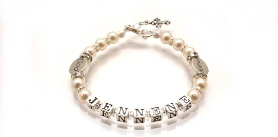 Personalised Godmother Name Bracelet. Find it at www.giftedmemoriesjewellery.com.au