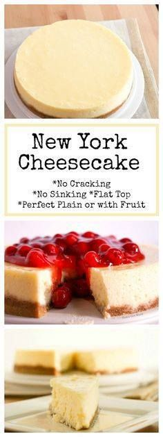 This New York Cheese This New York Cheesecake is the best Ive...   This New York Cheese This New York Cheesecake is the best Ive ever had! No cracking no sinking top no thick brown crust. A perfectly flat cheesecake that is tasty plain or with fruit! #dessert #cheesecake #newyork #newyorkcheesecake #cherrycheesecake #fruitcheesecake #plaincheesecake #nocracking #nosinking #flattop #nowaterbath #perfectcheesecake #recipe #numstheword http://ift.tt/2nS3gmi Recipe : http://ift.tt/1hGiZgA And…