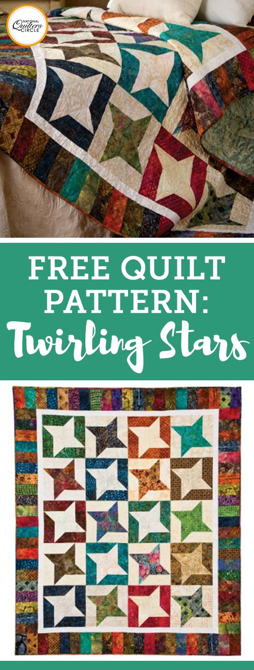 If you love traditional quilts, but are looking for a project that isn't just another simple square on square design, the Twirling Stars Quilt Pattern from AccuQuilt is exactly what you've been looking for. Quilters who have completed several projects will enjoy stepping out of their comfort zone a bit with this pattern that has quite a few Y seams.