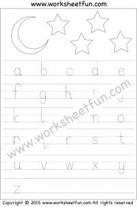 small letter tracing lowercase worksheet